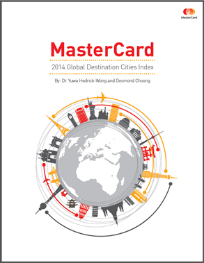 「2014全球最佳旅遊城市報告」(2014 Global Destination Cities Index) (2014年7月)